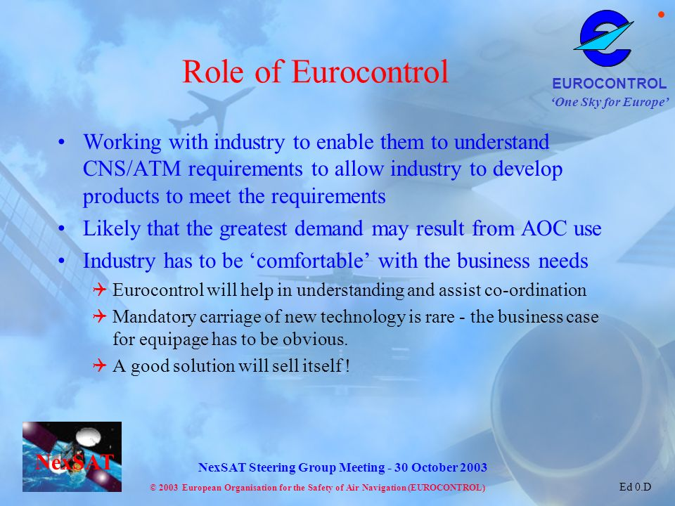 Role of Eurocontrol