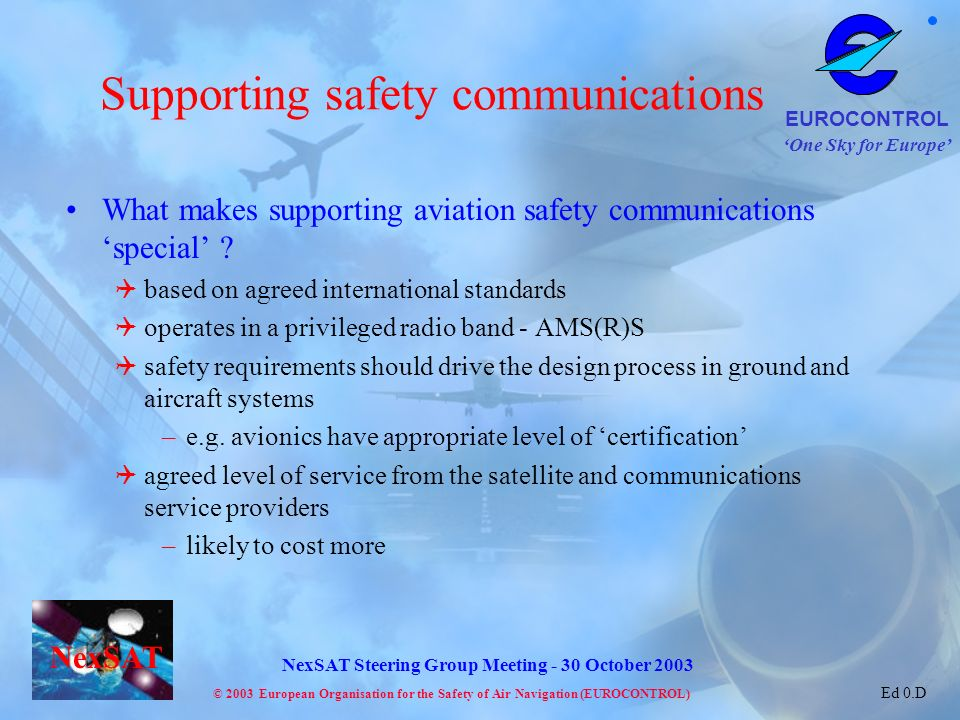 Supporting safety communications