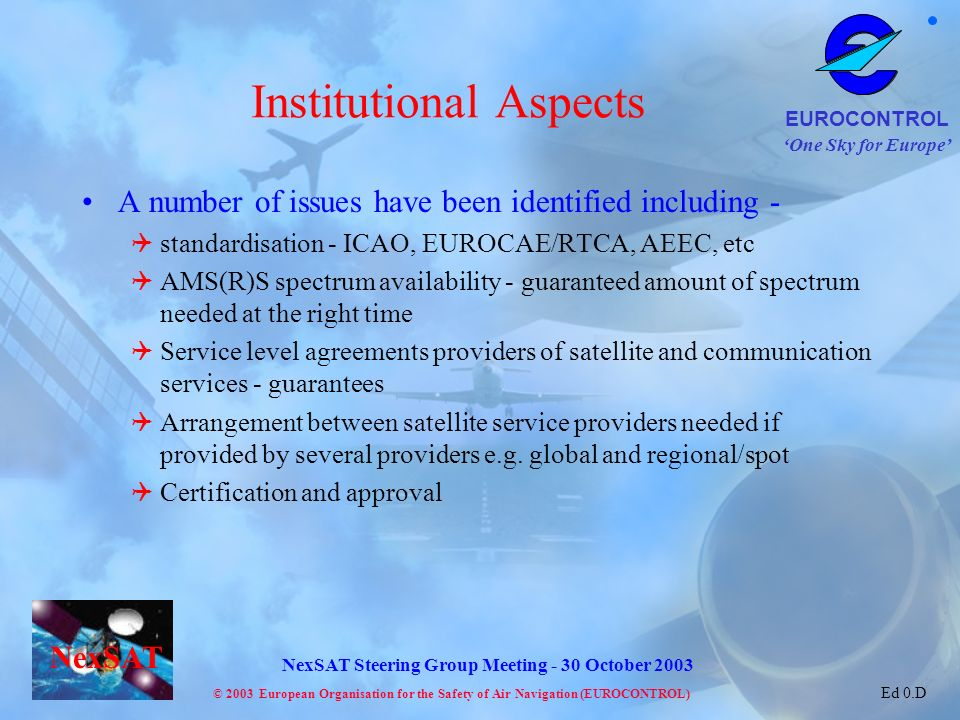 Institutional Aspects