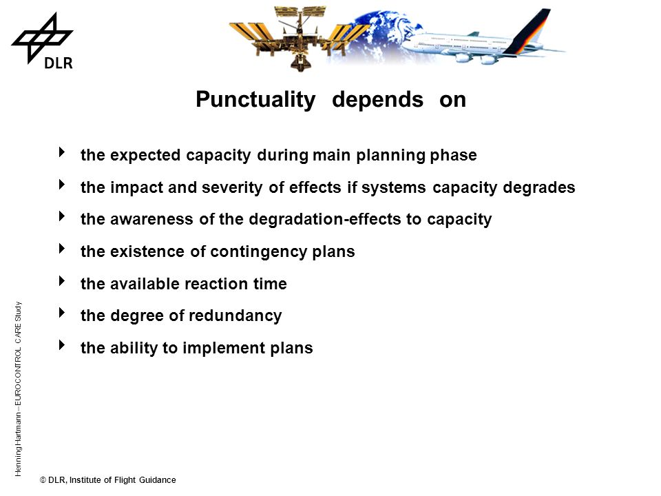 Punctuality depends on