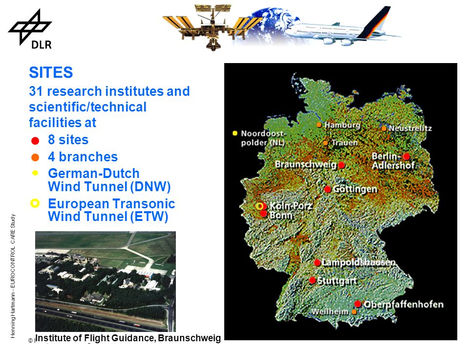 31 research institutes and scientific/technical facilities at 8 sites