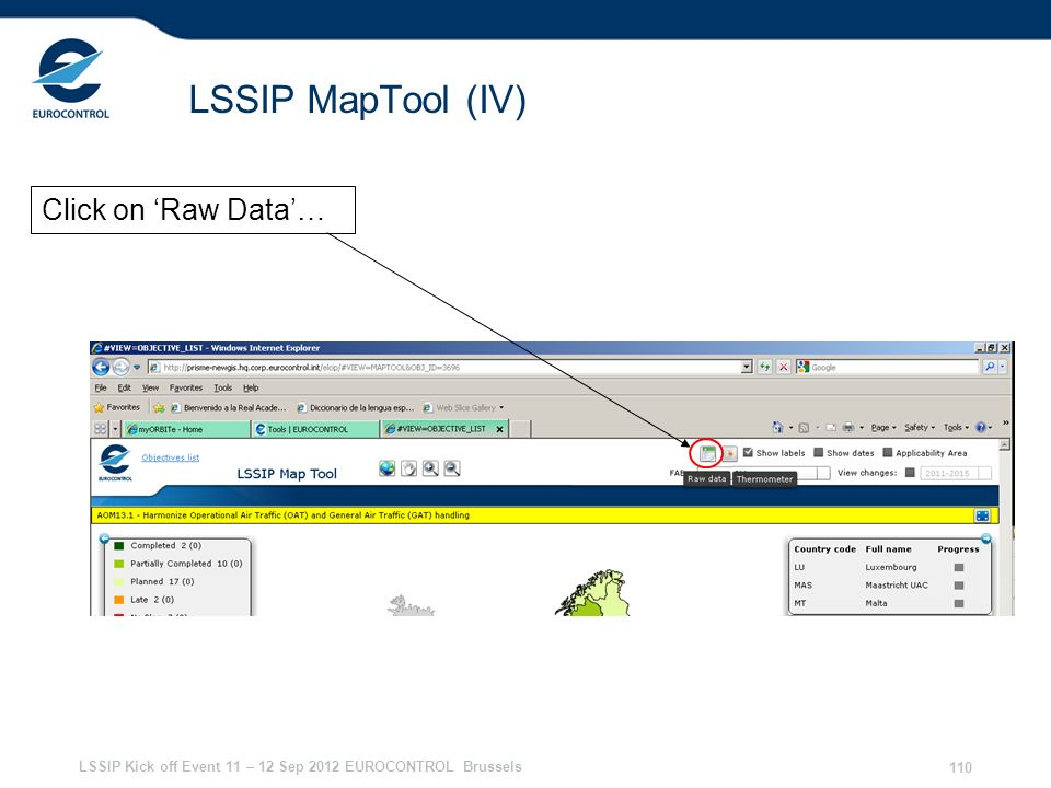 LSSIP MapTool (IV) Click on 'Raw Data'… 28/03/2017