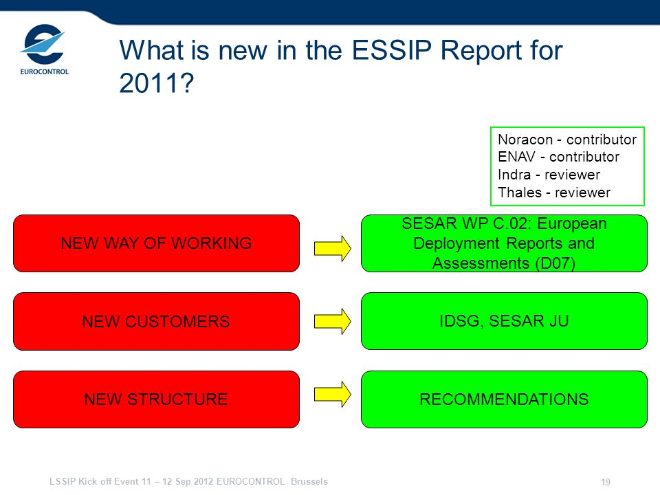 What is new in the ESSIP Report for 2011