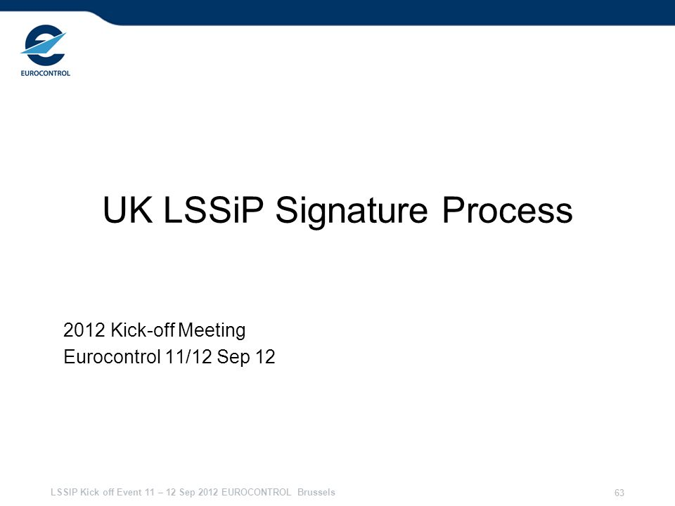 UK LSSiP Signature Process