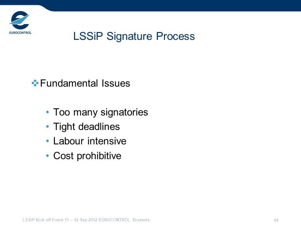 LSSiP Signature Process