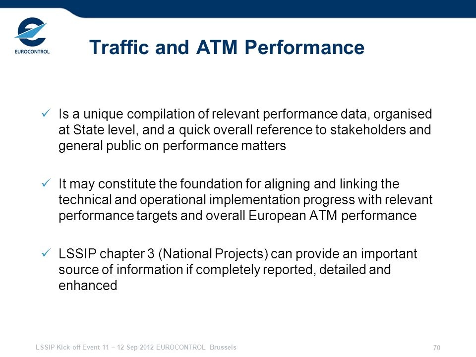 Traffic and ATM Performance