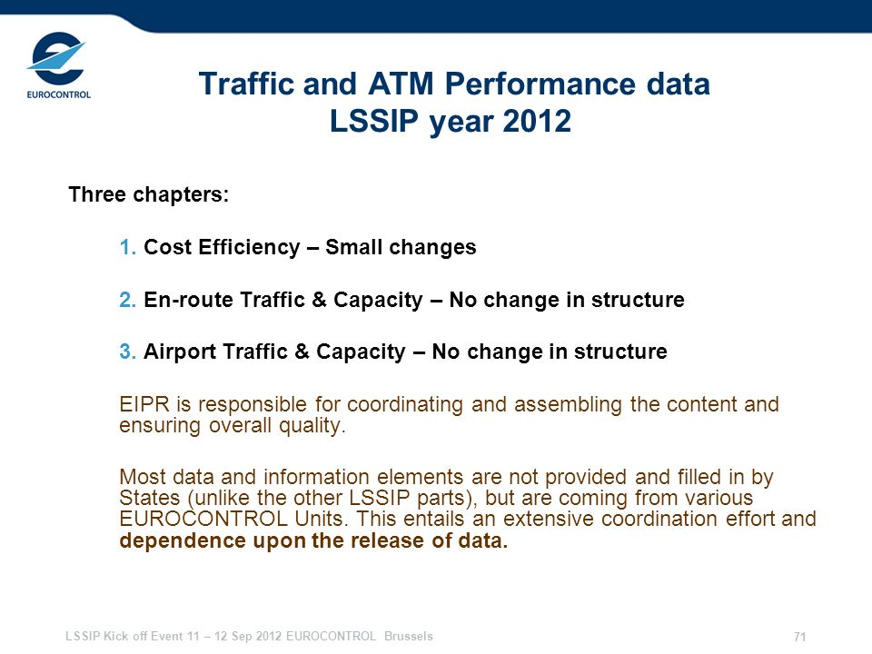 Traffic and ATM Performance data LSSIP year 2012