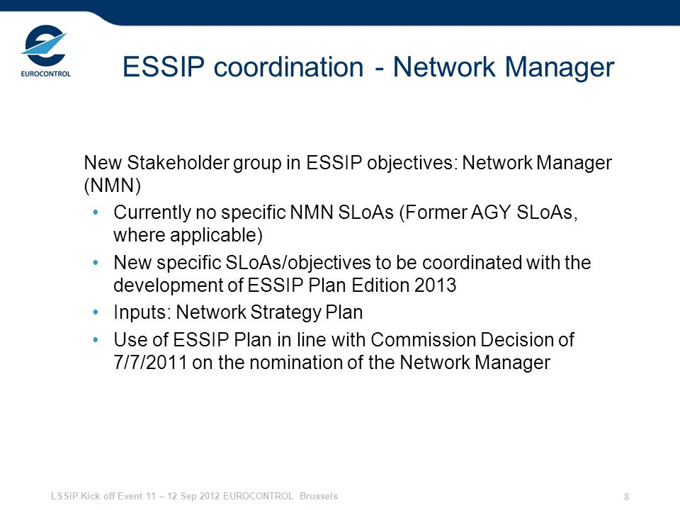 ESSIP coordination - Network Manager