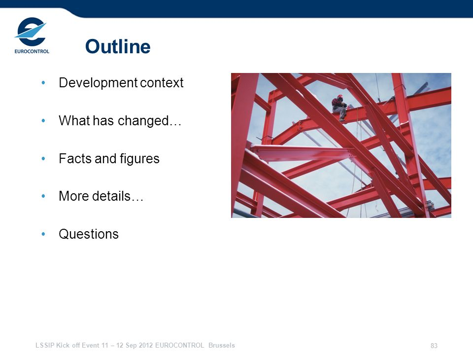 Outline Development context What has changed… Facts and figures