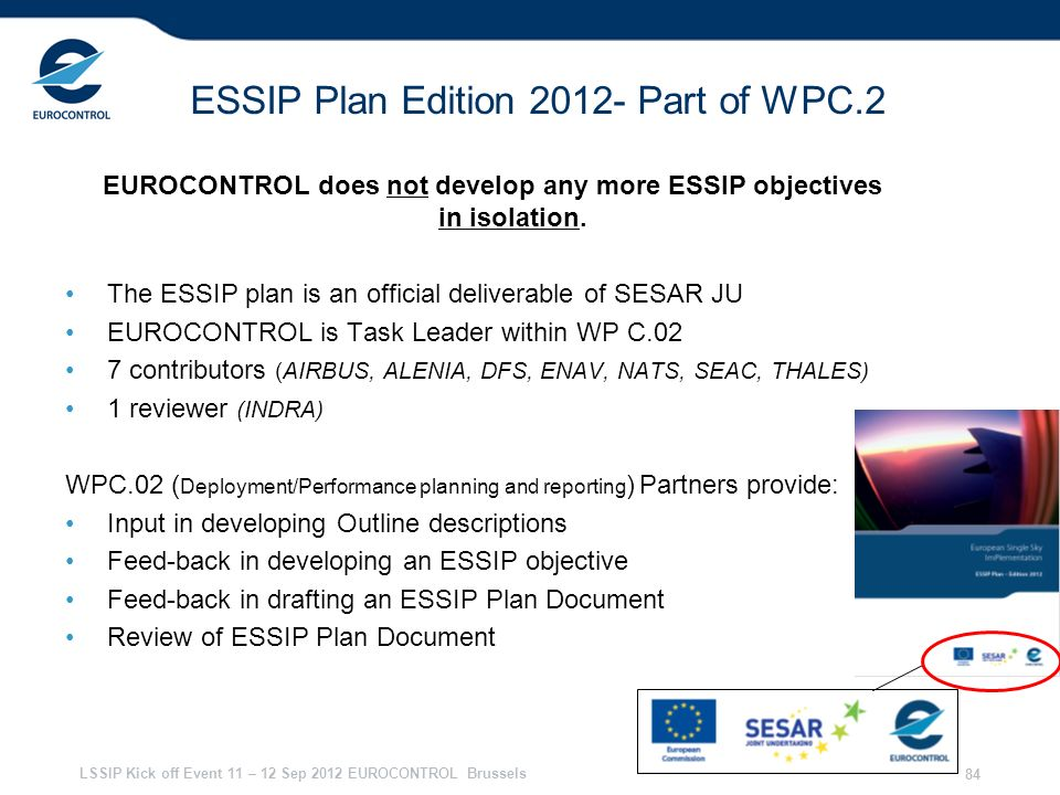 ESSIP Plan Edition 2012- Part of WPC.2