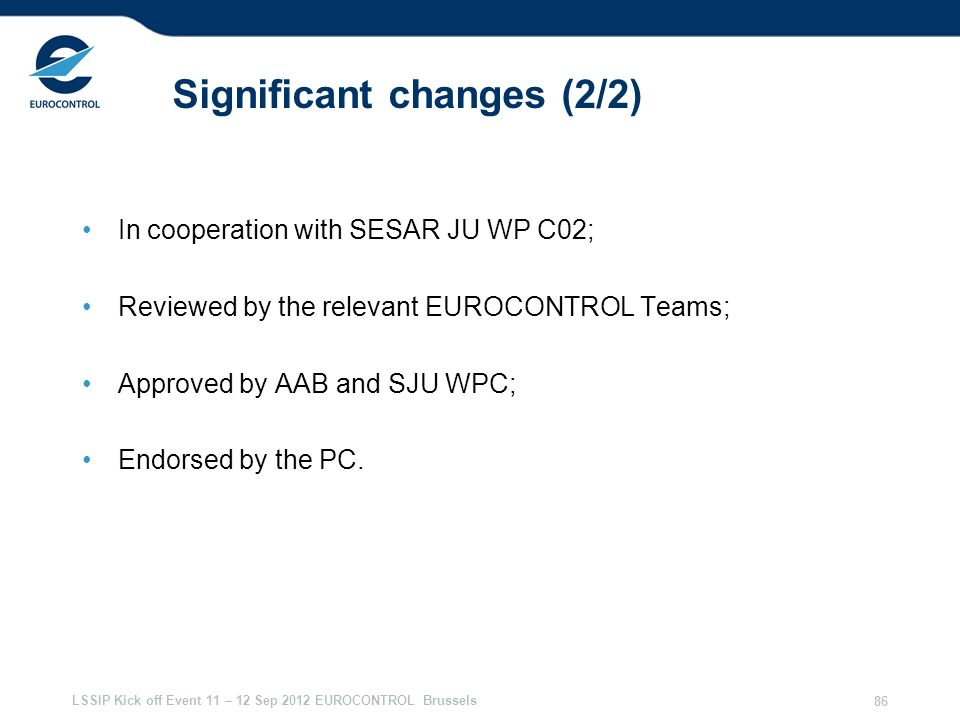 Significant changes (2/2)