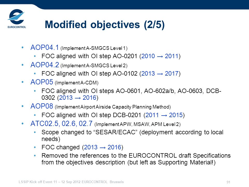 Modified objectives (2/5)