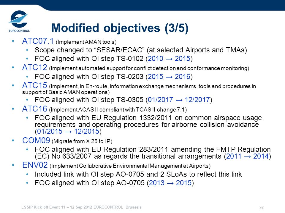 Modified objectives (3/5)