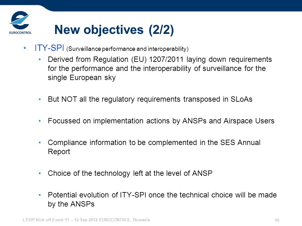 28/03/2017 New objectives (2/2) ITY-SPI (Surveillance performance and interoperability)