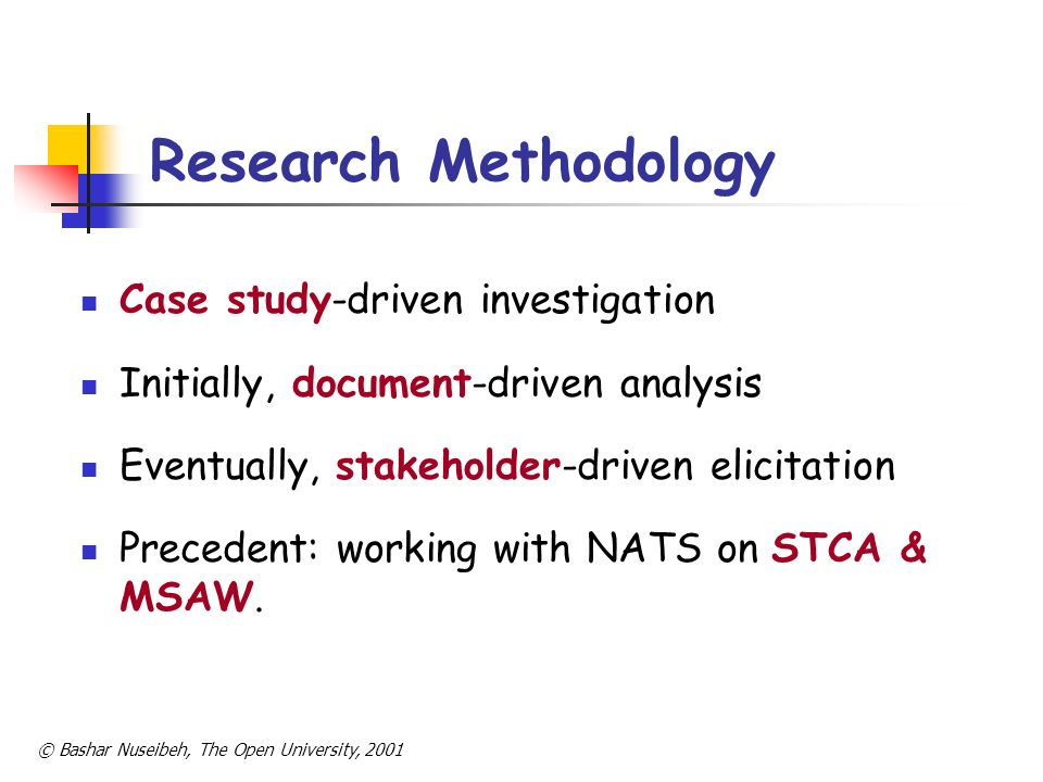Research Methodology Case study-driven investigation