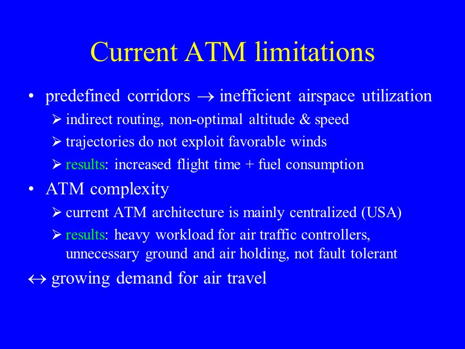 Current ATM limitations