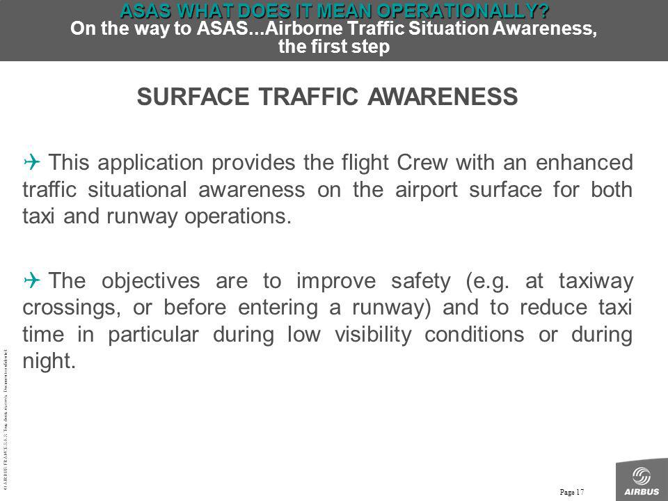 SURFACE TRAFFIC AWARENESS