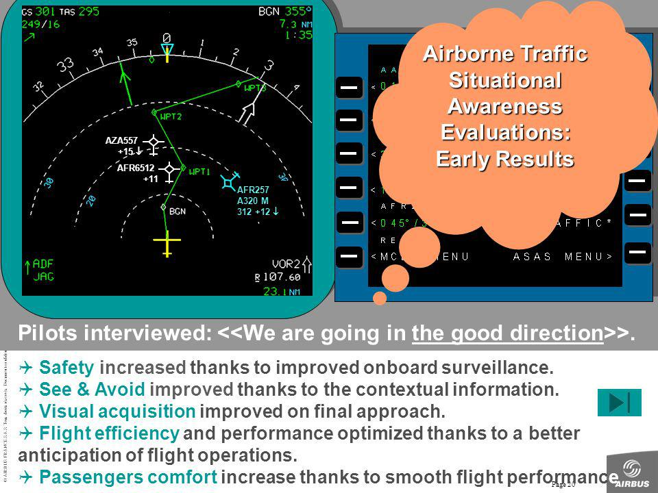 Airborne Traffic Situational Awareness Evaluations: Early Results