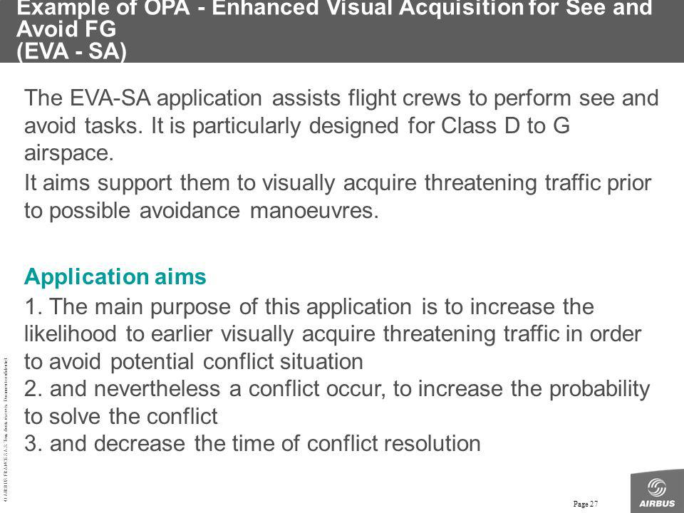 Example of OPA - Enhanced Visual Acquisition for See and Avoid FG (EVA - SA)