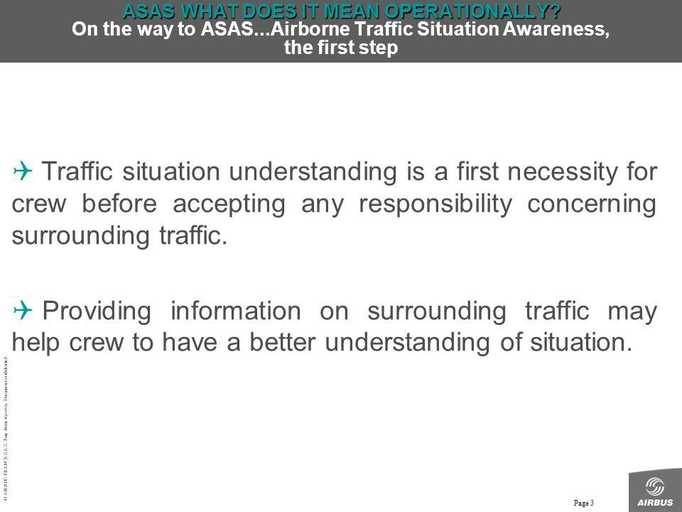 ASAS WHAT DOES IT MEAN OPERATIONALLY. On the way to ASAS