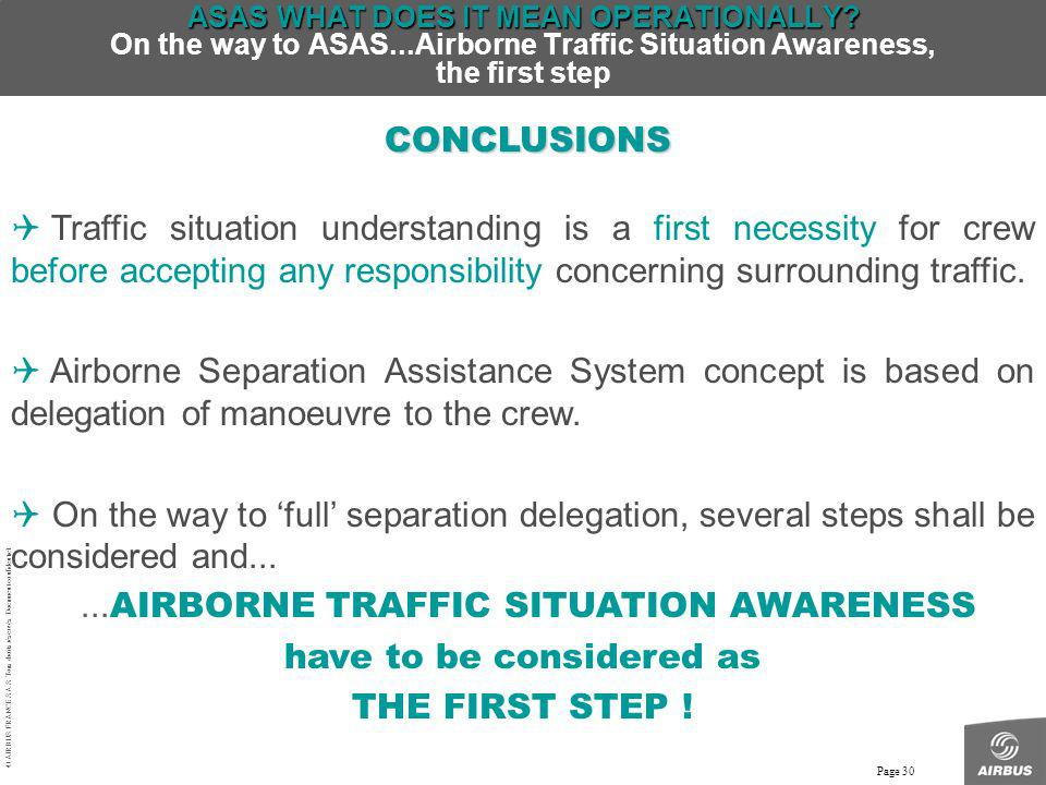 ...AIRBORNE TRAFFIC SITUATION AWARENESS have to be considered as