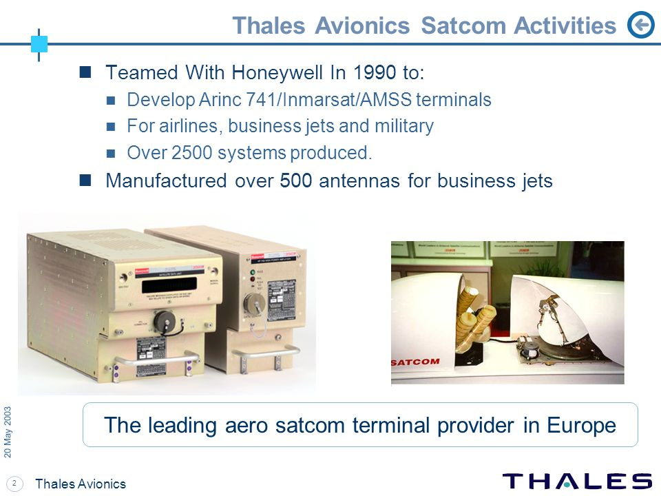 Thales Avionics Satcom Activities