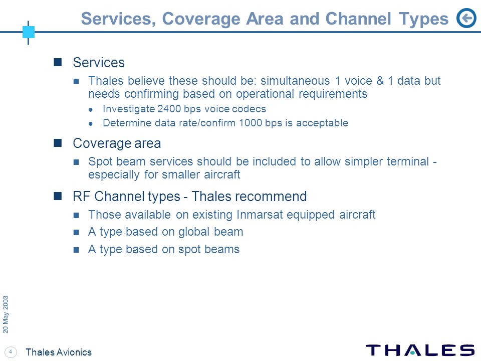 Services, Coverage Area and Channel Types