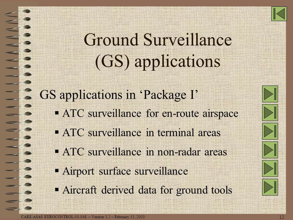 Ground Surveillance (GS) applications