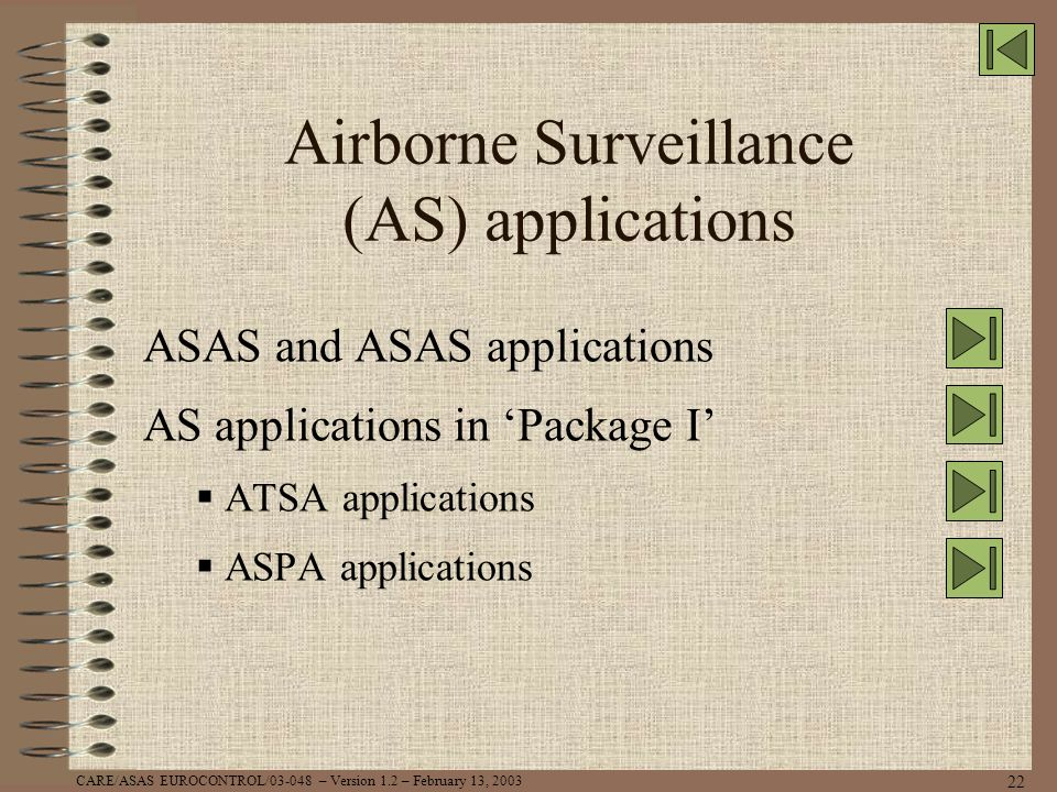Airborne Surveillance (AS) applications