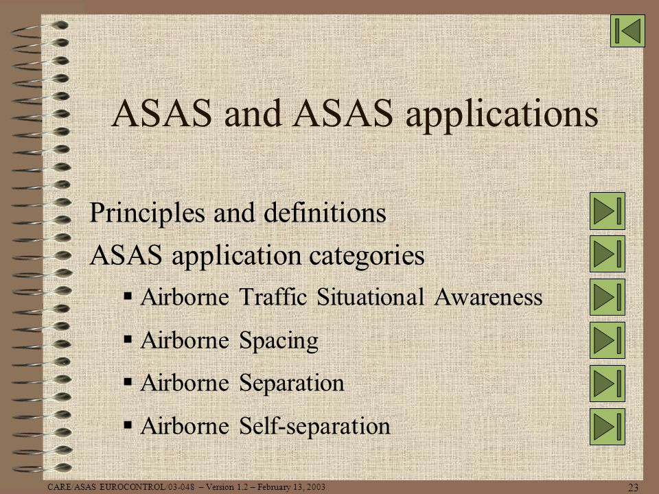 ASAS and ASAS applications
