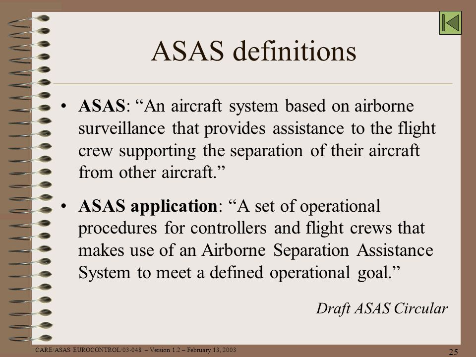 ASAS definitions