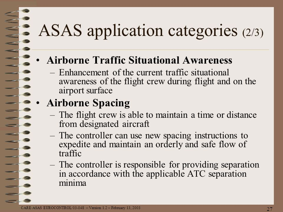 ASAS application categories (2/3)