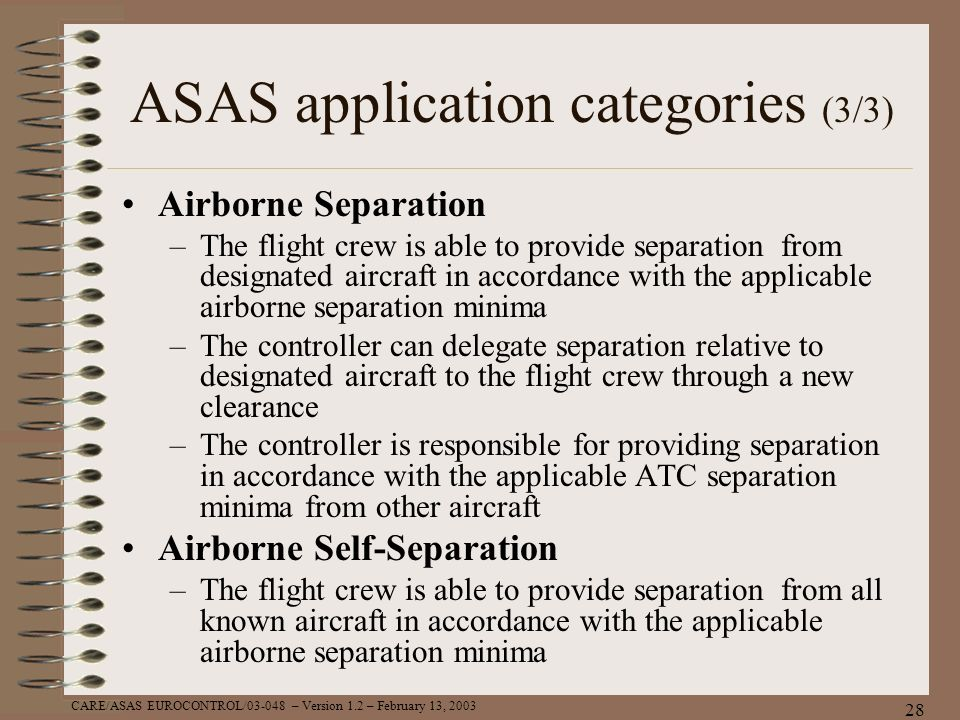 ASAS application categories (3/3)