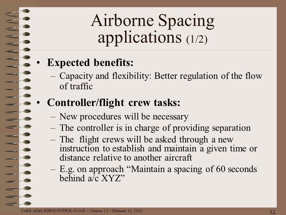 Airborne Spacing applications (1/2)