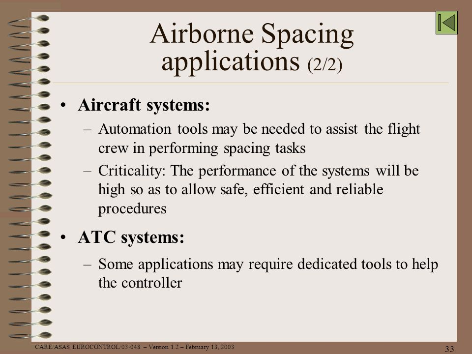 Airborne Spacing applications (2/2)