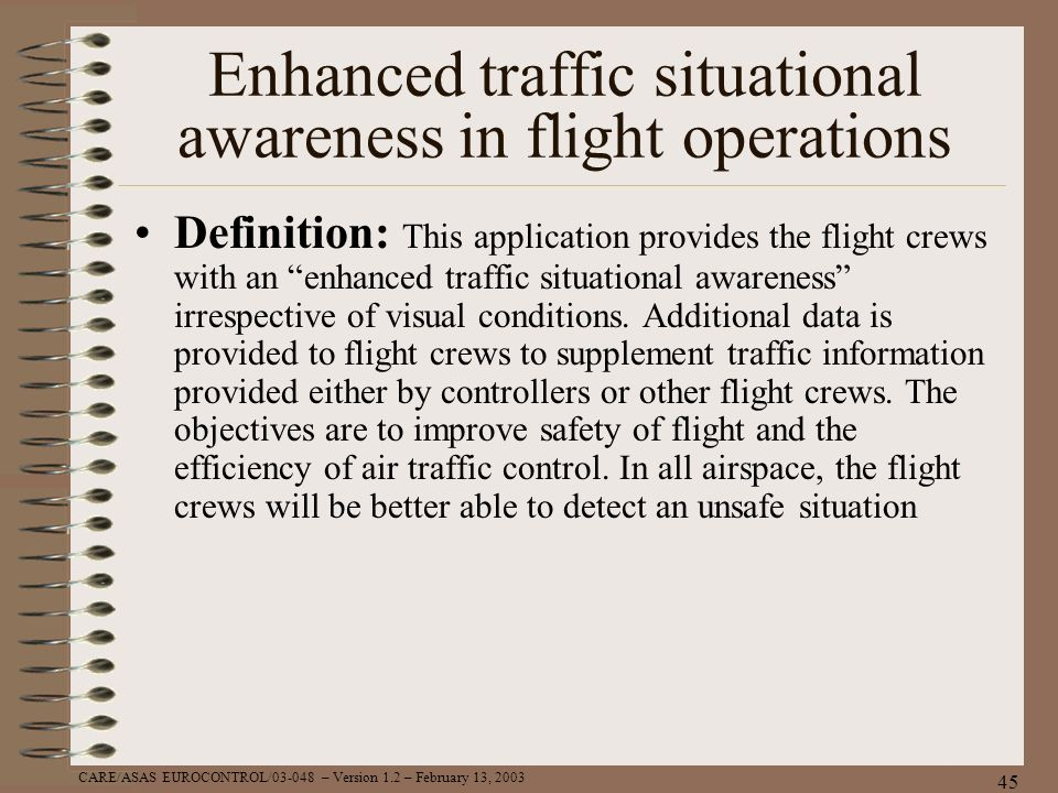 Enhanced traffic situational awareness in flight operations