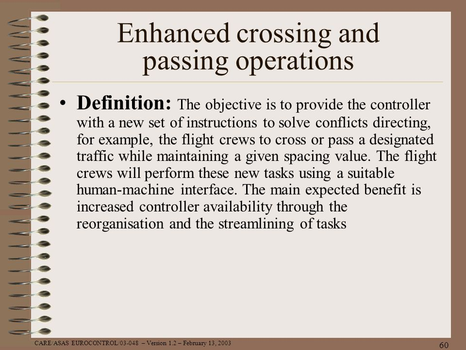 Enhanced crossing and passing operations