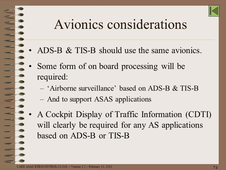 Avionics considerations