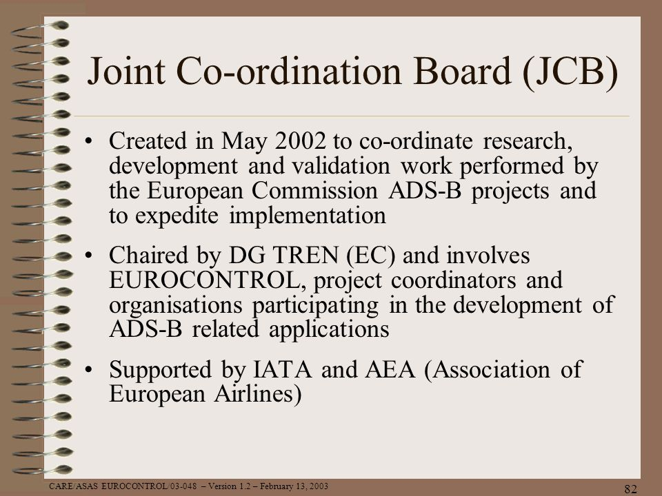 Joint Co-ordination Board (JCB)