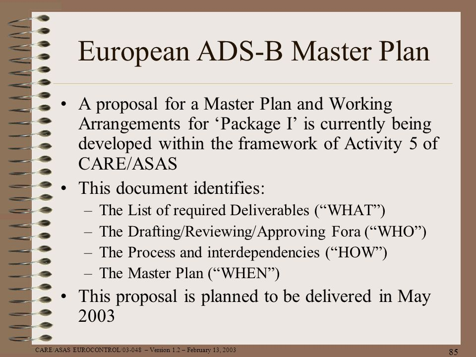 European ADS-B Master Plan