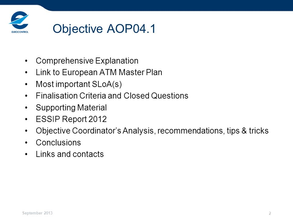 Objective AOP04.1 Comprehensive Explanation