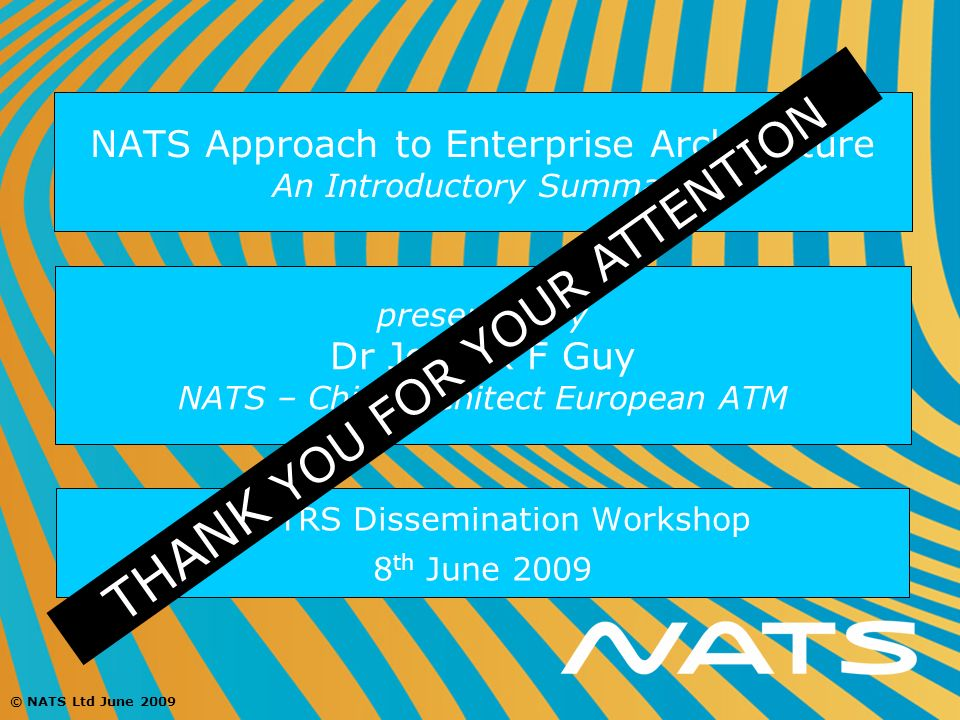 NATS Approach to Enterprise Architecture An Introductory Summary