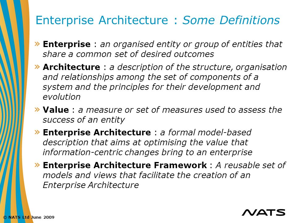 Enterprise Architecture : Some Definitions
