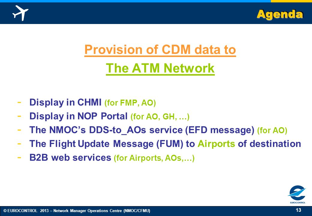 Provision of CDM data to