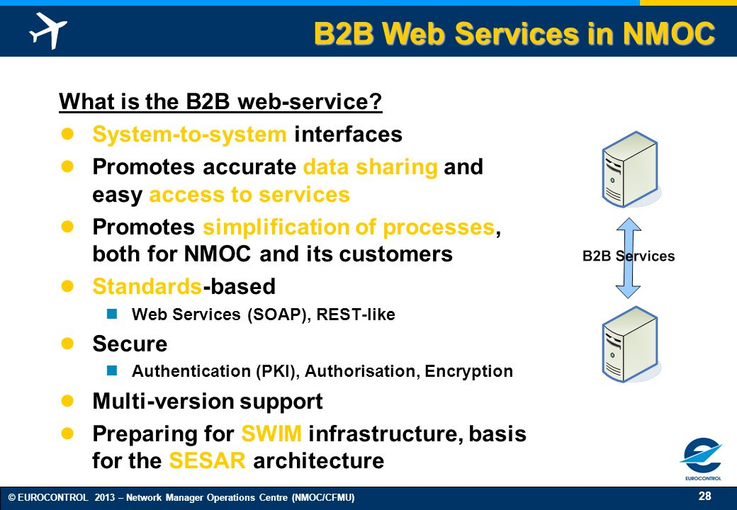 B2B Web Services in NMOC What is the B2B web-service