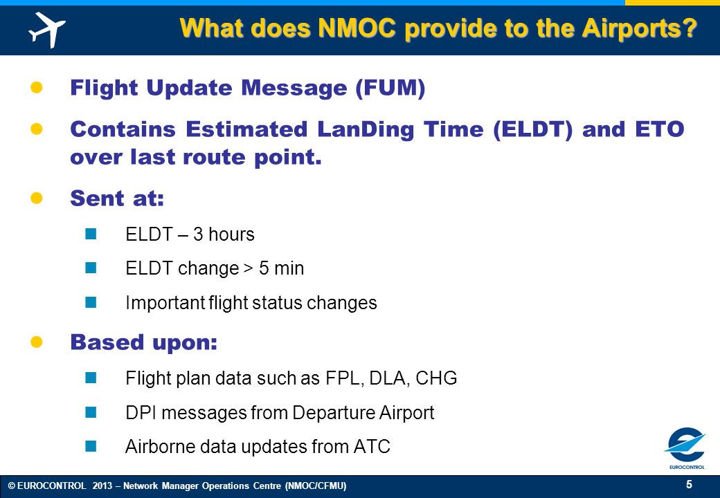 What does NMOC provide to the Airports