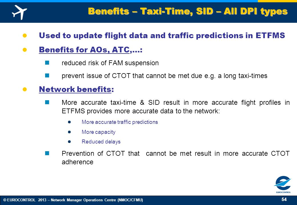 Benefits – Taxi-Time, SID – All DPI types
