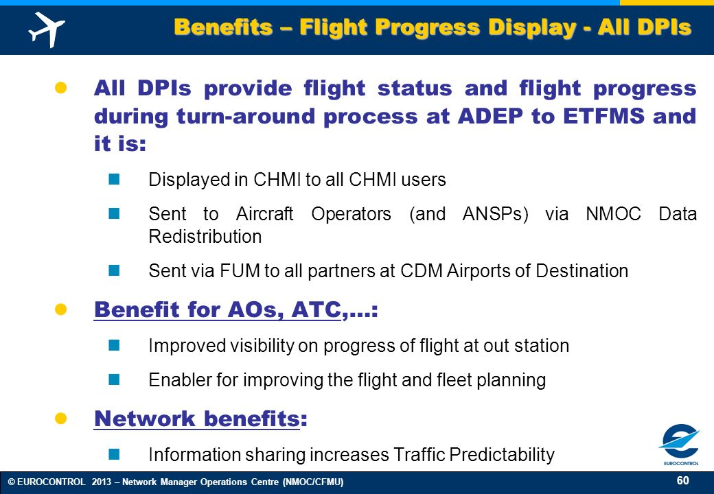 Benefits – Flight Progress Display - All DPIs