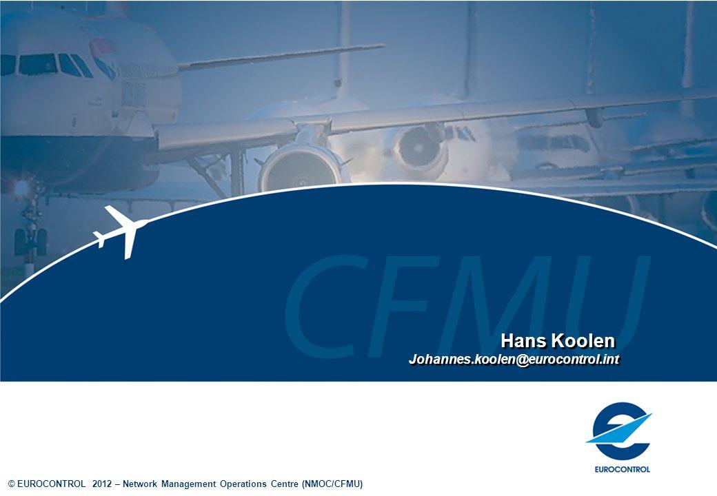 Hans Koolen Johannes.koolen@eurocontrol.int