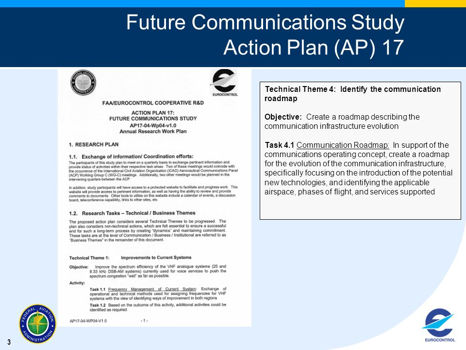 Future Communications Study Action Plan (AP) 17